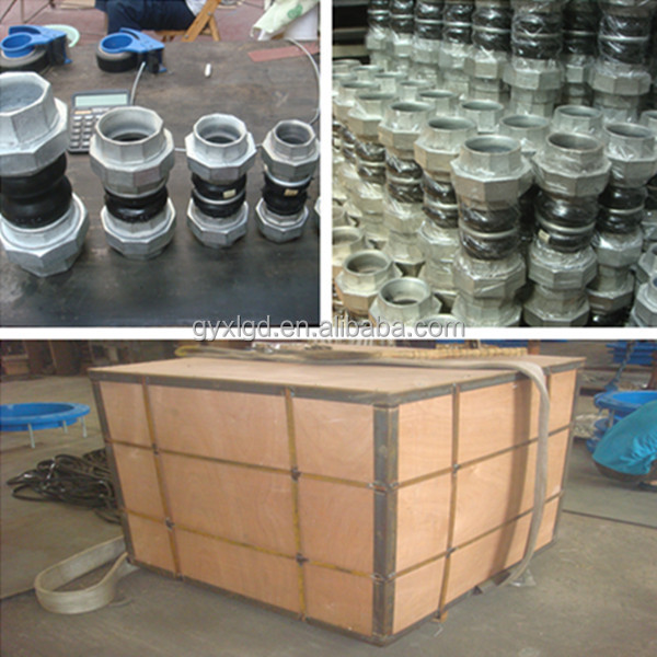 High quality threaded union rubber expansion joint