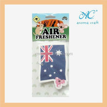2014 customized design car promotional accessories hanging paper car air freshener