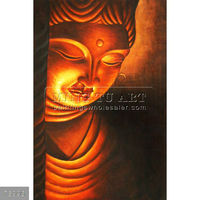100% handmade indian holy buddha oil paintings on canvas