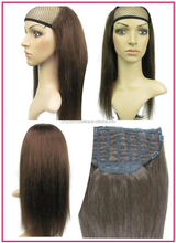 Accept paypal fast delivery wholesale fashionable Indian Hair Half Wig