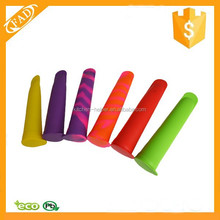 Silicone Popsicle Molds Snack Food Containers with Attached Lids Lunch Box Storage Reusable Ice Pop Maker
