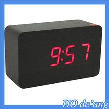 Hogift high quality digital clock home decor LED clcok fashion wood clock