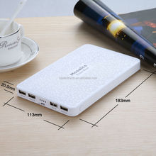 White portable power bank source 20000mah