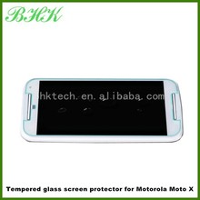 ultra thin extremely smooth tempered glass screen protector for Motorola Moto X ,automatic adsorption screen protector