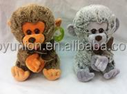 plush soft toy monkey small size in stock,cheap monkey plush toys