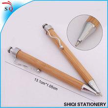 promotional unique metal wave clip bamboo ball pen