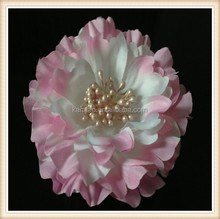 Custom Handmade Flower Corsage Fabric Material Peony Bridal Hair Flower Brooch