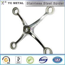 S31600 Stainless Steel Glass Spider Four Paws Satin Finish 250 Series-YC METAL