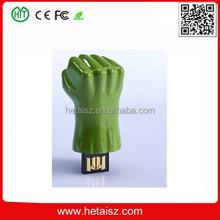 plastic hulk hand usb stick 1tb, usb green hand, green hand usb flash drive no minimum