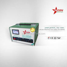 SVC 500W 220v electronic voltage regulator made in china