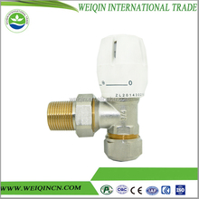 Micrometric angle thermostatic valve chrome plated thermostatic radiator valve screwed ends safety thermostat option