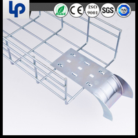HDG galvanized stainless steel grid cable tray for wire mesh cable tray made in china