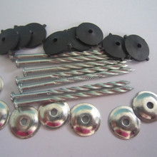 color coated zinc coated roofing screw nails with washer 9G 3''