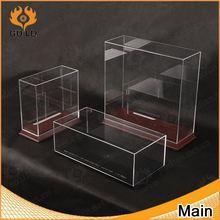 new design transparent acrylic box with base