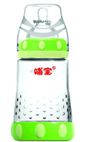 2015 HIGH quality wide neck small crystal glass feeding bottle for 3 months baby (180ml) 6 OZ