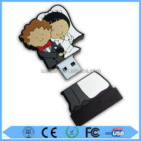 Free sample cheapest wedding gift flash usb