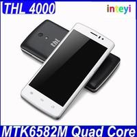 "Original THL 4000 MTK6582M Quad Core Mobile Phone 4.7"" 960x540 1.3GHz 1GB RAM 8GB ROM 5.0MP 4000Mah Battery Android 4.4.2 THL"
