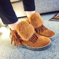 Autumn Tassel Casual Women Boots Fashion Flat Snow Boots Slip On Ankle Boot For Women Winter Ladies Shoes Free Shipping DX246