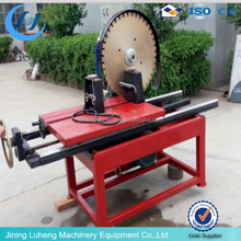 Stone tile cutter of the roadside stone pebbles