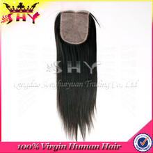 Wholesale brazilian virgin hair lace closure silk base closure