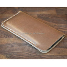 China Suppliers Genuine Leather Soft Cell Phone Pouch for iphone 6 6 plus