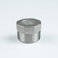 "304 stainless steel npt fittings hex plug 11/2"""
