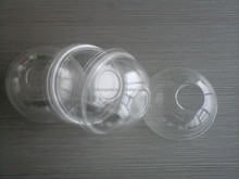 high transparency disposable plastic PET dome lids for 97mm cup