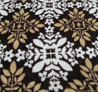 Factory direct sale hometextile plant printing Coral fleece fabric