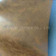Brown-Black PU sofa leather