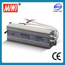 LPV-100-12 IP67 ac dc led transformer 12v 100w