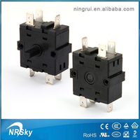 High quality 4 position rotary switch rotary selector switch