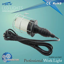 top selling technical handheld IP44 60w E27 rubber handle transparent glass shield hand light