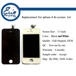 original mobile phone for iphone 4s lcd with glass, for iphone 4s lcd original screen