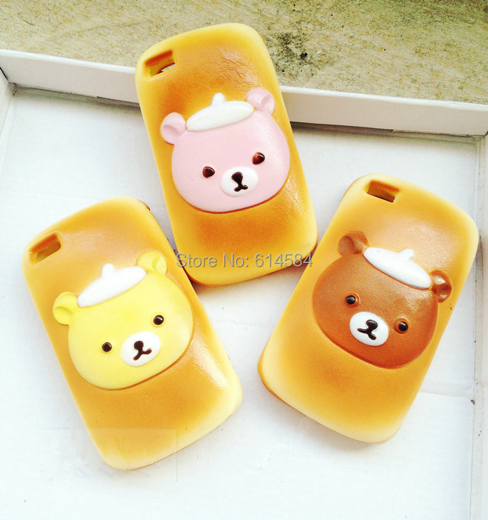 Squishy Bread Iphone Case : Free shipping cartoon Rilakkuma toast squishy phone cover,Food Squishy Bread Phone Cases for ...