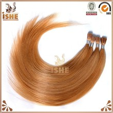 Russia hair 100% human hair keratin i tip/u tip/v tip remy fusion hair extensions