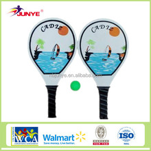2015 New brand best selling wood beach tennis racket set with ball