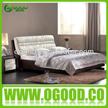2014 Modern Headboard Red/White Leather Bed Set OB098