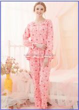 High Quality Single Jersey Printed Pajamas Women, Sleepwear