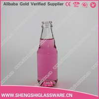 200ml Empty soft drink glass bottle with cap