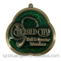 Customized Die casting 2D / 3D gold metal medal