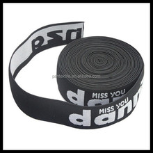 Custom black jacquard elastic band