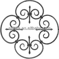 producer ornate wrought iron rosettes design for stair railings fence gate solid iron bar