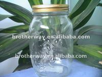 clean and bright glass bottle