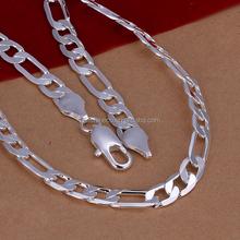 Promotional plain silver necklace for men