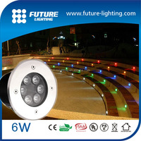 CE RoHS 3 years warranty IP67 6W garden square walkway outcolor change led under deck lighting