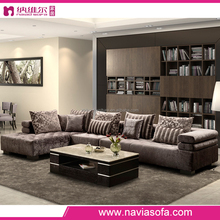 Fantastic design very Comfortable arabic modern fabric couch Living room corner sofa with wooden frame