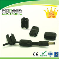 Split ferrite core Snap on Core In Plastic Cases For Round Cable and Wiring Harness