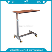 AG-OBT006 CE approved ABS material 4 wheels table for hospital bed