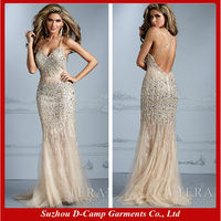 OC-2812 Spaghetti strap plunging neckline open back first night sexy dresses sexy party gambar sex dress most popurlar