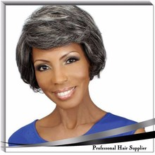 grey color hot sale wig human hair full lace wig